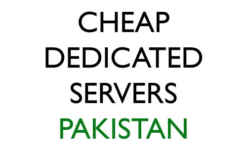 cheap dedicated server pakistan